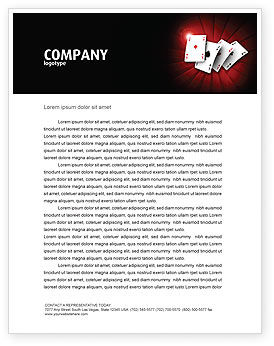 Careers/Industry: Aces Briefpapier Template #04536