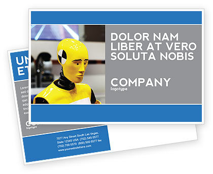 Dummy Postcard Template, 04542, Careers/Industry — PoweredTemplate.com