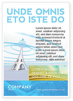 Television Tower Ad Template, 04548, Telecommunication — PoweredTemplate.com