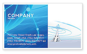 Telecommunication: Television Tower Business Card Template #04548