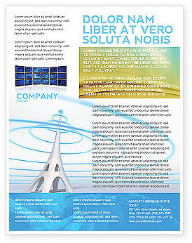 Television Tower Flyer Template, 04548, Telecommunication — PoweredTemplate.com