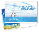 Telecommunication: Television Tower Postcard Template #04548