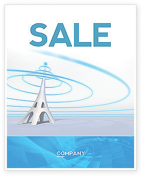 Television Tower Sale Poster Template, 04548, Telecommunication — PoweredTemplate.com