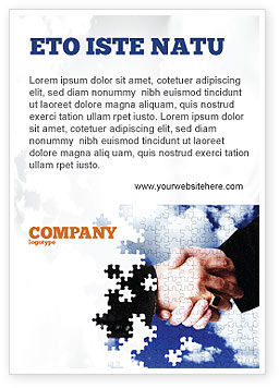 Puzzle Of Partnership Ad Template, 04550, Business — PoweredTemplate.com