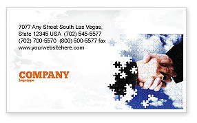 Business: Puzzle Of Partnership Business Card Template #04550