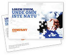 Business: Puzzle Of Partnership Postcard Template #04550