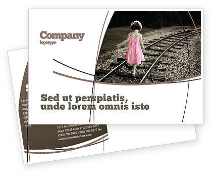 Suicidal Postcard Template