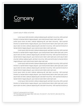 Nature & Environment: Water Drops Letterhead Template #04555