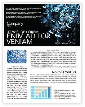 Nature & Environment: Modelo de Newsletter - gotas de água #04555