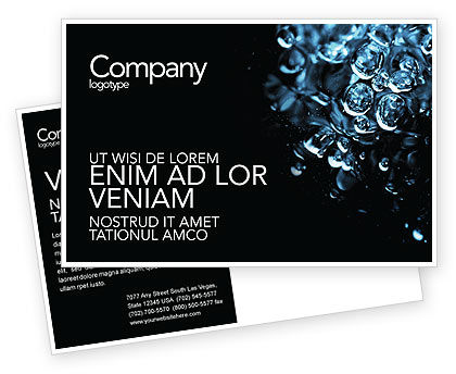 Nature & Environment: Water Drops Postcard Template #04555