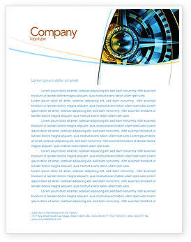 Course Letterhead Template, 04557, Consulting — PoweredTemplate.com