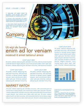 Course Newsletter Template, 04557, Consulting — PoweredTemplate.com