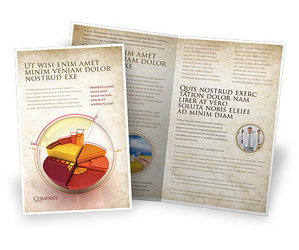 3D Pie Chart Brochure Template, 04559, 3D — PoweredTemplate.com