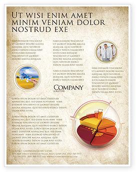 3D Pie Chart Flyer Template, 04559, 3D — PoweredTemplate.com