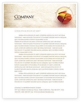 3D Pie Chart Letterhead Template, 04559, 3D — PoweredTemplate.com