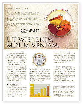 3D Pie Chart Newsletter Template, 04559, 3D — PoweredTemplate.com