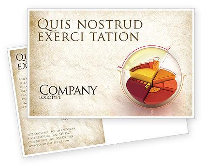 3D Pie Chart Postcard Template, 04559, 3D — PoweredTemplate.com