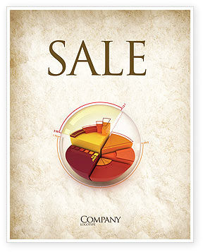 3D Pie Chart Sale Poster Template, 04559, 3D — PoweredTemplate.com