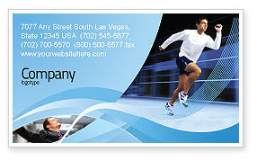 Sports: Endeavour Business Card Template #04561