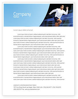 Sports: Endeavour Letterhead Template #04561