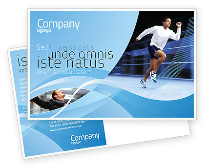 Sports: Endeavour Postcard Template #04561