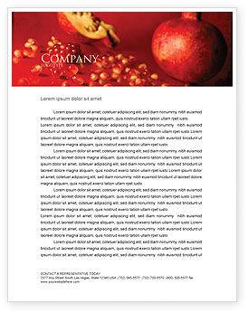 Food & Beverage: Cleaned Garnet Letterhead Template #04563