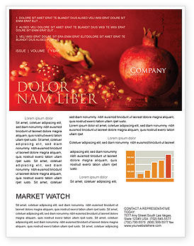 Food & Beverage: Cleaned Garnet Newsletter Template #04563