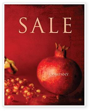 Cleaned Garnet Sale Poster Template, 04563, Food & Beverage — PoweredTemplate.com