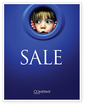 Kid Looking In Porthole Sale Poster Template