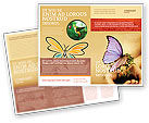 Nature & Environment: Butterfly In Your Hands Brochure Template #04567