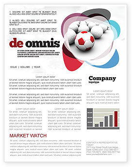 Originality Newsletter Template, 04570, Sports — PoweredTemplate.com