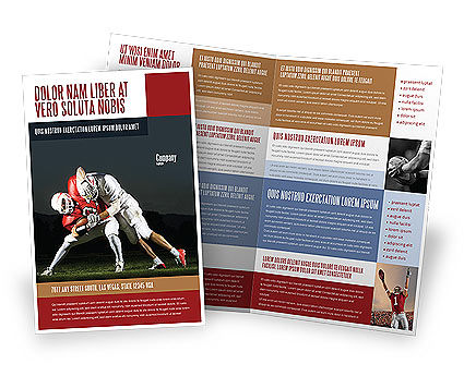 america brochure template - american football in school brochure template design and