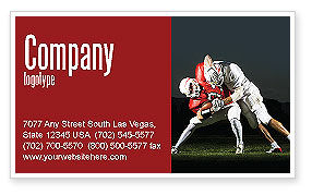 American Football New Orleans Saints Business Card Template, 04572, Sports — PoweredTemplate.com