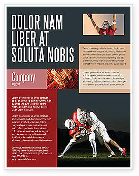 Sports: American Football New Orleans Saints Flyer Template #04572