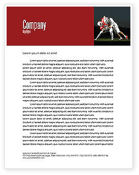 American Football New Orleans Saints Letterhead Template, 04572, Sports — PoweredTemplate.com