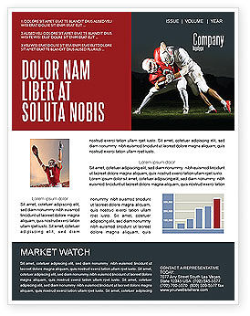 Sports: American Football New Orleans Saints Newsletter Template #04572
