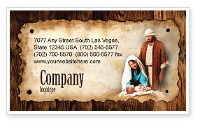 Birth of Christ Business Card Template, 04574, Abstract/Textures — PoweredTemplate.com
