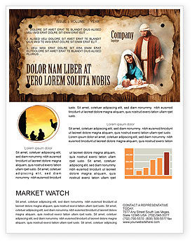 Abstract/Textures: Birth of Christ Newsletter Template #04574