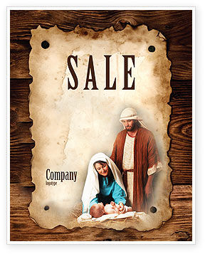 Abstract/Textures: Birth of Christ Sale Poster Template #04574