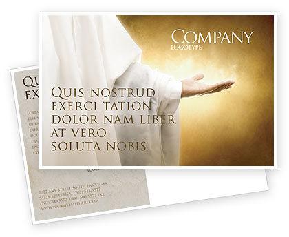 Religious/Spiritual: St Family Religion Postcard Template #04579