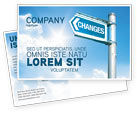Financial/Accounting: Changes Postcard Template #04582