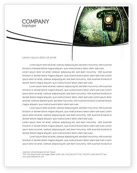 Telecommunication: Outdated Telephone Letterhead Template #04583