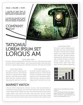 Telecommunication: Outdated Telephone Newsletter Template #04583