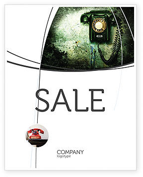 Outdated Telephone Sale Poster Template, 04583, Telecommunication — PoweredTemplate.com