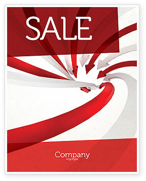 Vortex Sale Poster Template, 04585, Consulting — PoweredTemplate.com