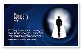 Road To Exit Business Card Template, 04586, Careers/Industry — PoweredTemplate.com