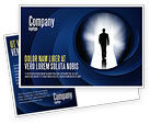 Careers/Industry: Road To Exit Postcard Template #04586