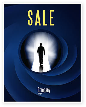 Careers/Industry: Road To Exit Sale Poster Template #04586