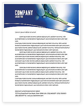 Medical: Scalpel Letterhead Template #04589