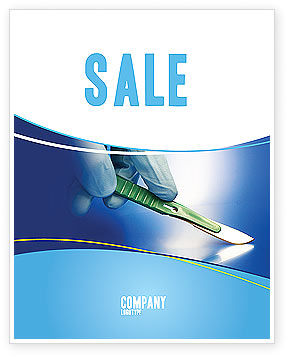 Scalpel Sale Poster Template, 04589, Medical — PoweredTemplate.com
